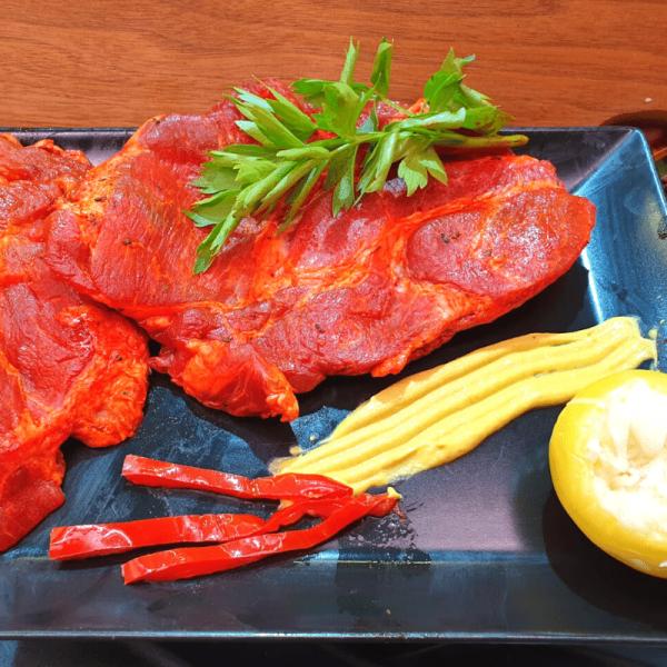 Ceafa de porc marinata