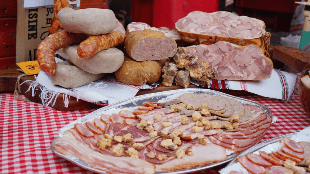 Platou rece din carne